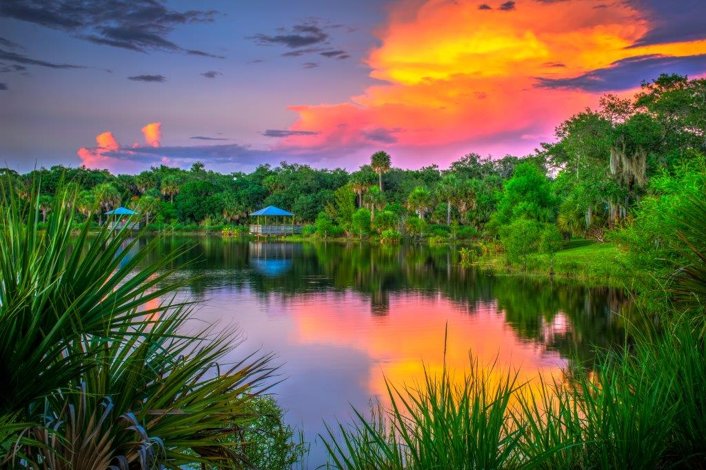 Lake view in Port St. Lucie
