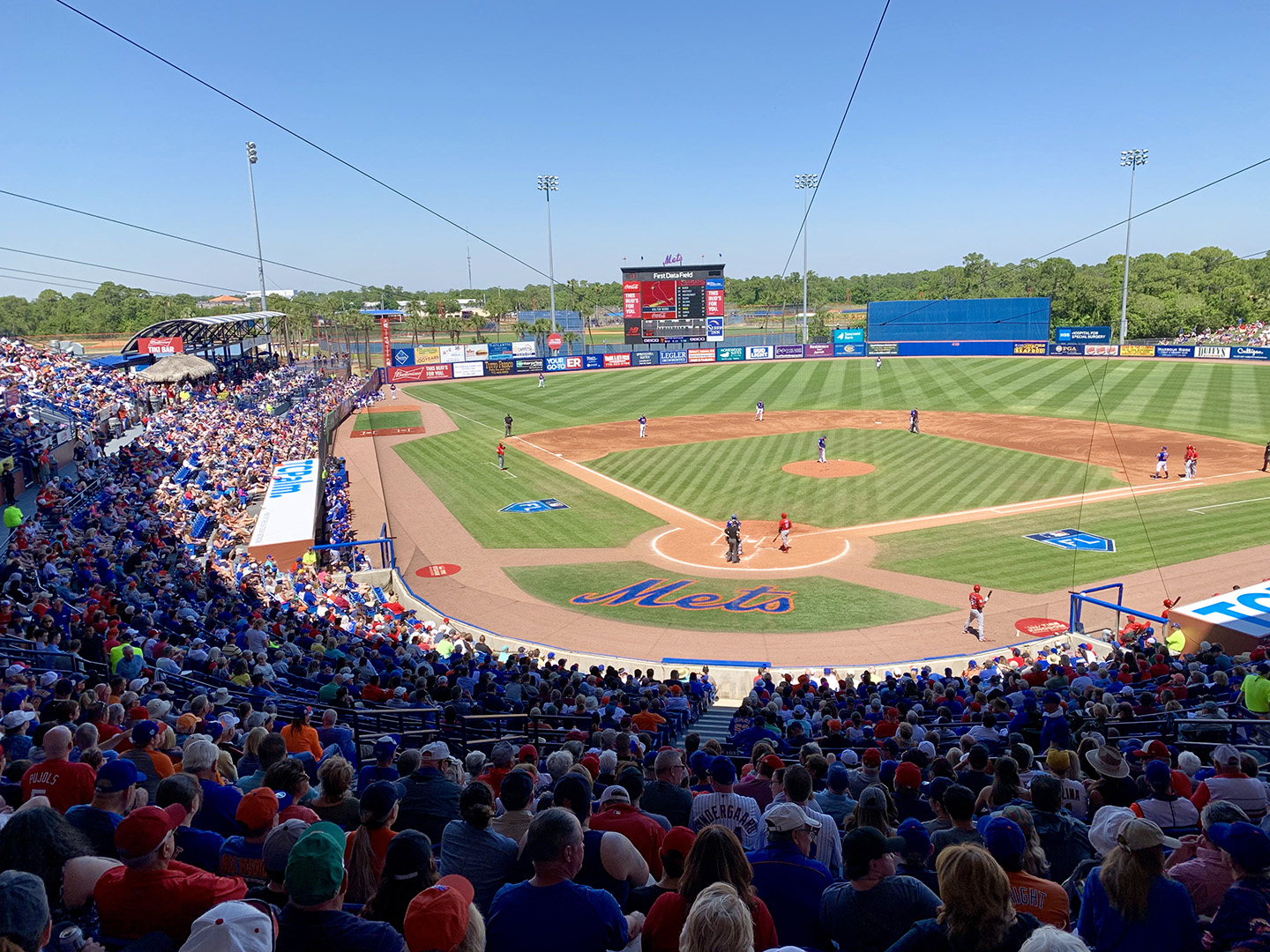 View at NYC Mets spring training game