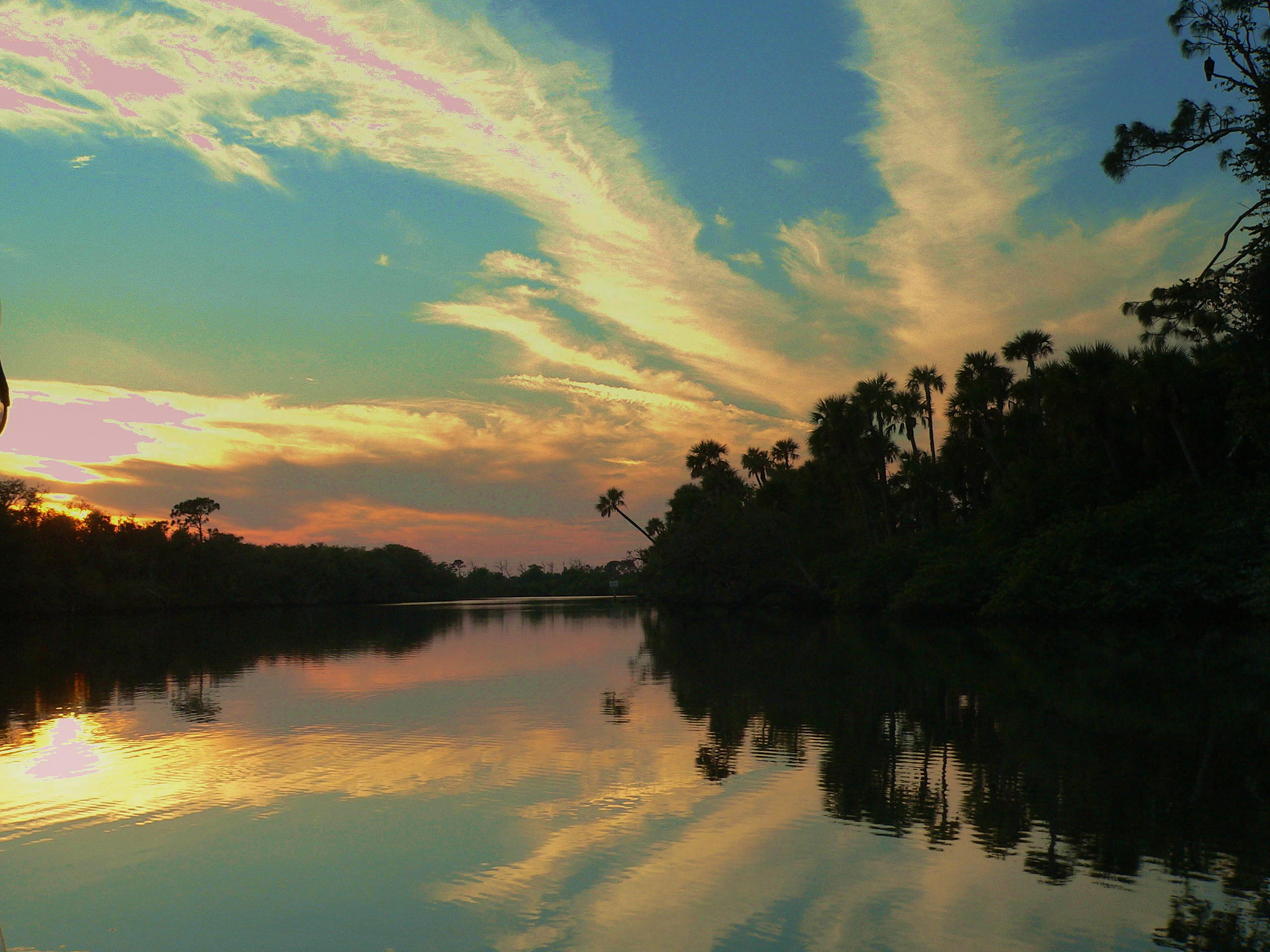 Sunset on St. Lucie River