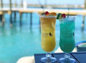 Yellow & Blue Tropical Drinks