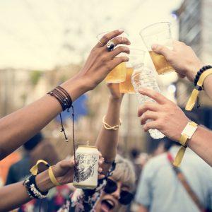 Group of People Cheers-ing