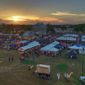 Large Event at Sunset